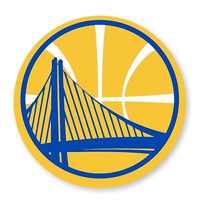 Golden State Warriors Round  (Gold)  Decal / Sticker Die cut - Gold State Warriors