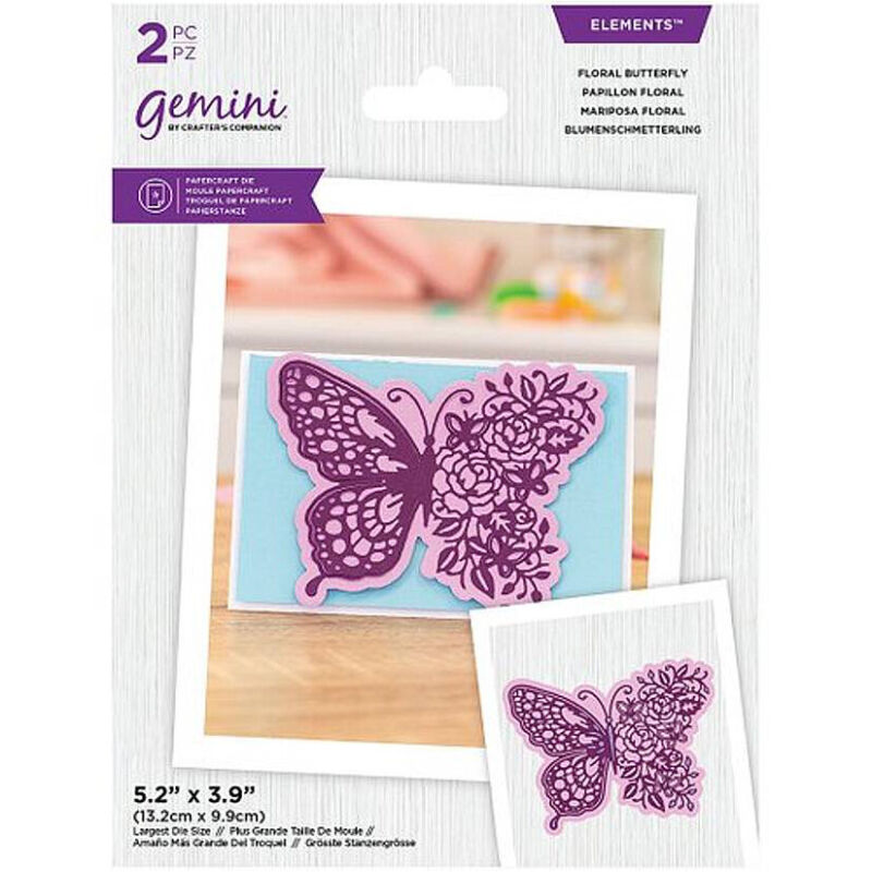 Gemini Elements Floral Butterfly Die - Crafter