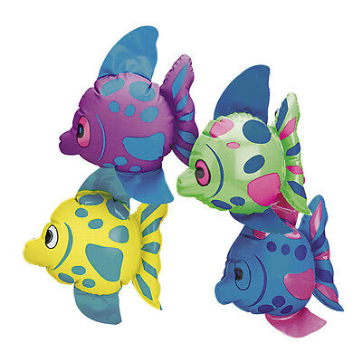 Tropical Fish Inflate (12 Inflatable FISH Beach Luau Hawaiian Tropical Pool Party BIRTHDAY PARTY FAVORS )