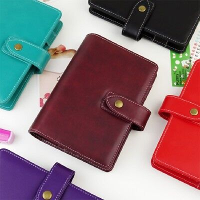 2019 Pu Leather Planner Agenda Binder Colorful Cover 2.5cm Ring A5 A6 Available