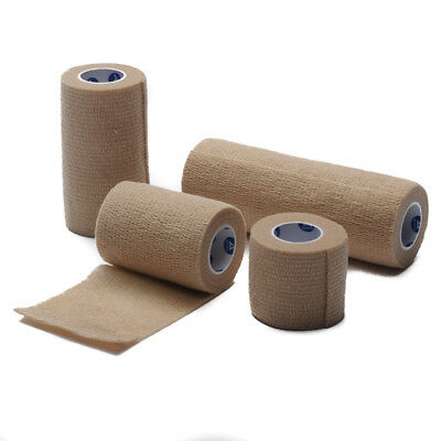 Self Adherent Bandage Rolls - Dynarex Cohesive Bandage Elastic Bandage Wrap Self Adherent Tan Roll