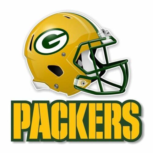 Green Bay Packers Football Helmet Sticker Die Cut Vinyl Decal Car Window Case