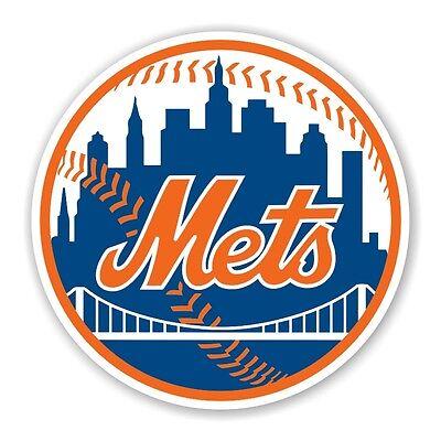 New York Mets  Round Decal / Sticker Die - New York Mets Decals