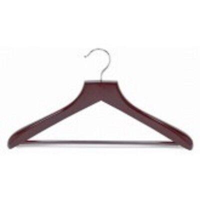Only Hangers Contoured Deluxe Wood Suit Hanger w/Non-Slip Bar -