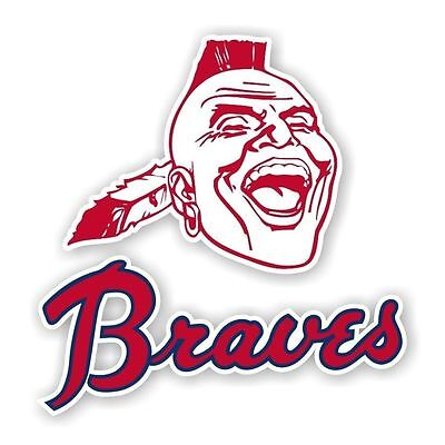 Atlanta Braves Vintage Decal / Sticker Die - Braves Atlanta