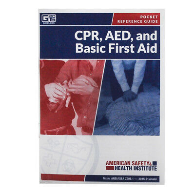 First Pocket Guide (First Aid Pocket Guide 52 page Meets OSHA Guidelines Each )