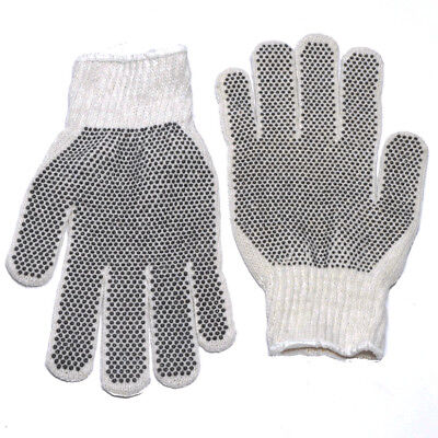 Pvc Double Dot Work Gloves Knit Wrist Dozen