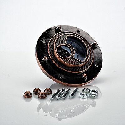 Steamlight Gauge - Copper Finish - Steampunk Gauge - Industrial Gauge - Gears
