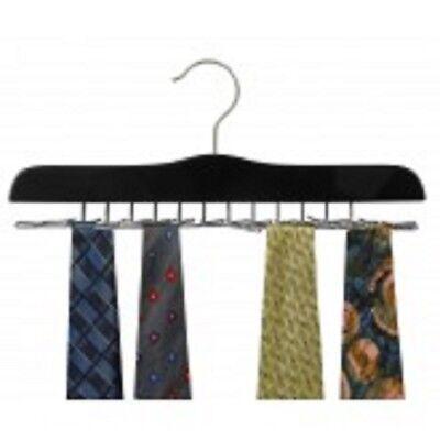 Wood Tie Hanger - Only Hangers Black Wood Multi Tie Hanger