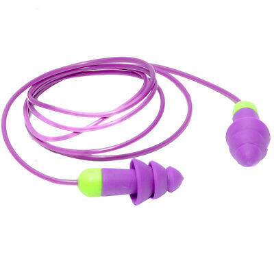 Rocket Purple Resusable Earplugs With Cord Pair