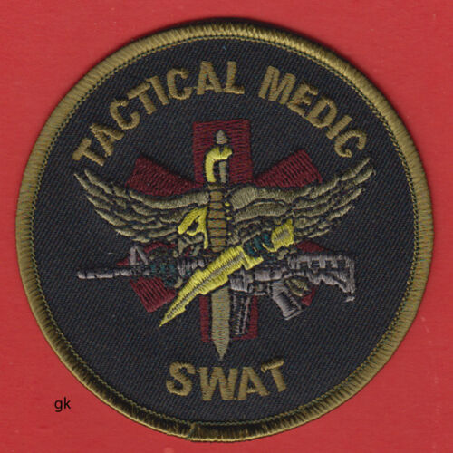 "SWAT TACTICAL MEDIC POLICE SHOULDER PATCH  (3 1/2"")"