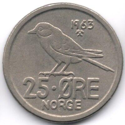 Norway : 25 Ore 1963