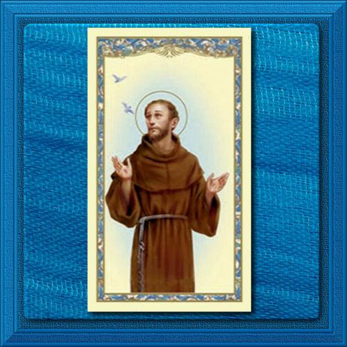 Saint Francis of Assisi CATHOLIC Prayer Holy Card LORD Make Me an Instrument