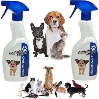 2x Geruchs-Entferner Geruchskiller Tiergeruchentferner Hund Katze KFZ Wohnung