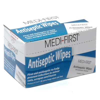 Medifirst Antiseptic First Aid Wipes 20/box ()