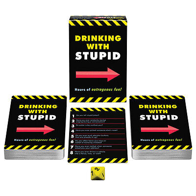 Drinking With Stupid Card Game Raunchy College Fun Adult Party Ice Breaker - Icebreaker Cards