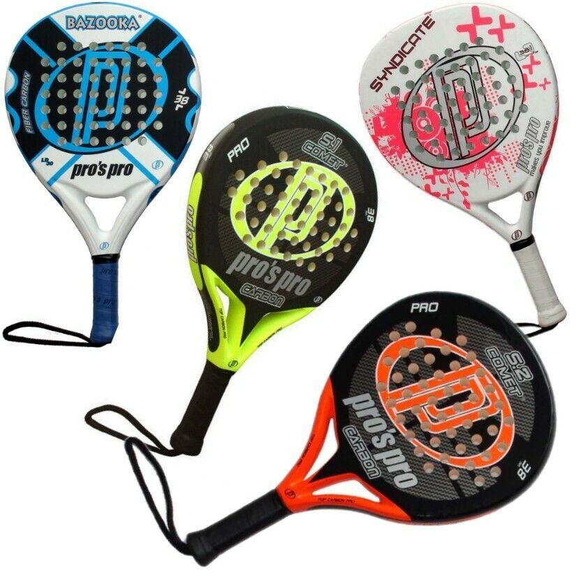 Pros Pro Padel Schläger COMET S2 / Paddle - Tennis Racket, Fiber / Carbon Frame