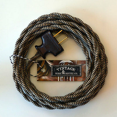 Riverbed Cotton Cloth Covered Wire Vintage Rewire Kit Lamp C