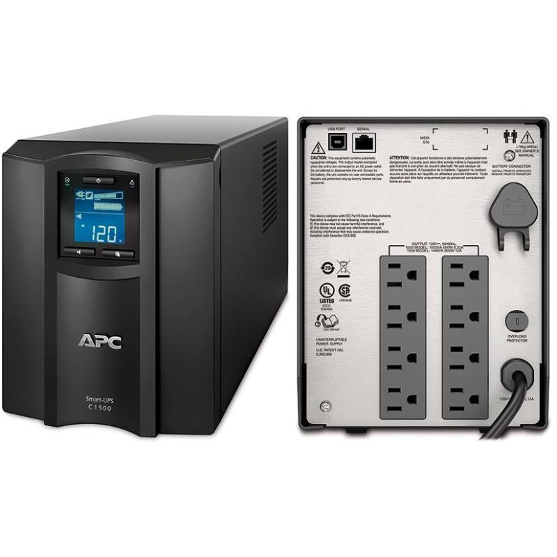 APC Smart-UPS C 1500VA LCD 120V Black SMC1500