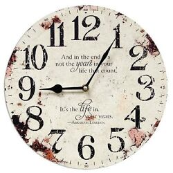 PRIMITIVE VINTAGE LOOKING  the years in your life that count  WALL CLOCK