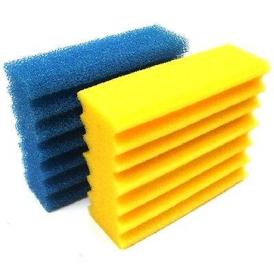 2 x Filterschwamm 1 x blau grob und 1 x gelb fein für Teichfilter CBF350 Filter