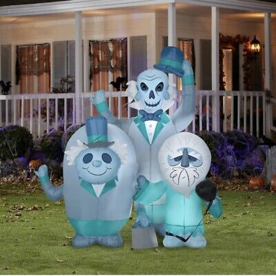 Gemmy Disney Haunted Mansion Airblown Inflatable Hitchhiking Ghosts 6 FT