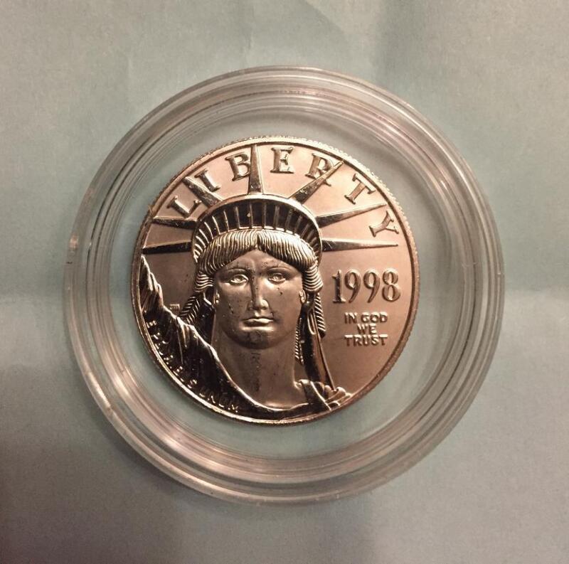 1998 PLATINUM EAGLE $100 STATUE OF LIBERTY LOW MINTAGE