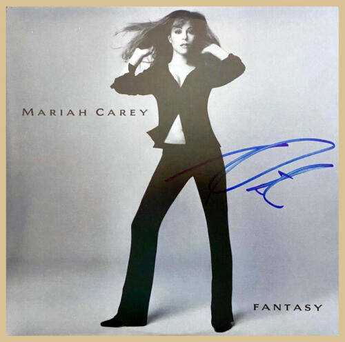 "MARIAH CAREY SIGNED IN PERSON ""FANTASY"" Double LP ALBUM * IPA NETWORK LOA"