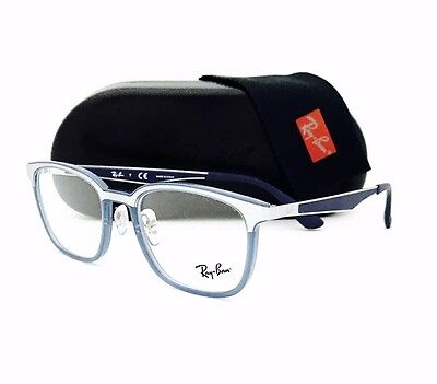 New Ray Ban Eyeglasses RB 7117 8019 Transparent Light Blue 50•19•145 With Case ](Eyeglasses With Lights)