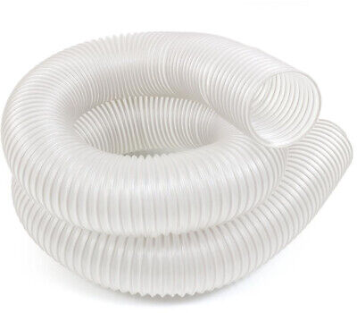 """4/""""x 10ft PVC Dust Collector Hose Heavy Duty Wrapped Steel Wire Woodworking Clear"""