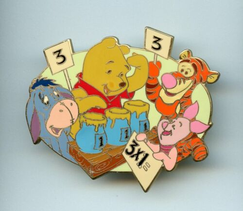 Disney Auctions Winnie the Pooh Eeyore Piglet Tigger Back to School LE 100 Pin