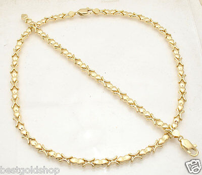 Hugs & Kisses Fancy Heart Bracelet Necklace Set 14K Yellow Gold Clad Silver 925