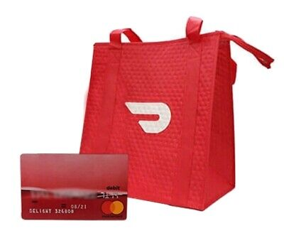 Doordash Official Red Card Delivery Tote Hot Bag Usps First Class Shipping
