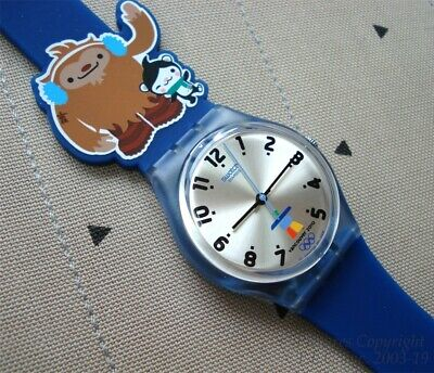 NEW/HTF KIDS MASCOT SWATCH 2010 VANCOUVER OLYMPICS OFFICIAL SWATCH WATCH + BONUS