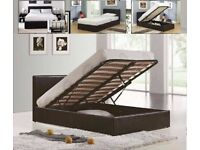 💖DISCOUNT SALE PRICE💖4ft6inch Double & 5ft King Size Leather Storage Bed Frame With Opt Mattress-