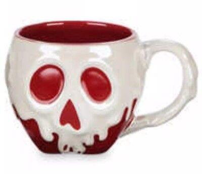 Disney Store Snow White Evil Queen's Poison Apple Sculpted Mug New