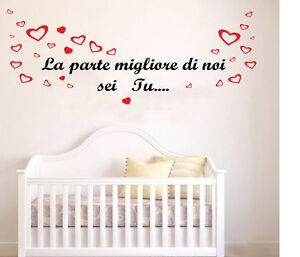 Wall stickers adesivi murali frase bimbo figlio cameretta bambini parete figli ebay - Adesivi cameretta bimbo ...