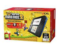 Brand New Unopened Nintendo 2ds With Super Mario 2 Game