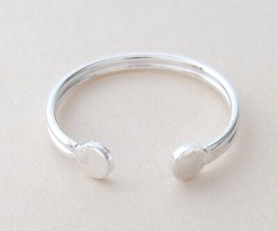 Sterling Silver Dainty thin up or down adjustable toe ring