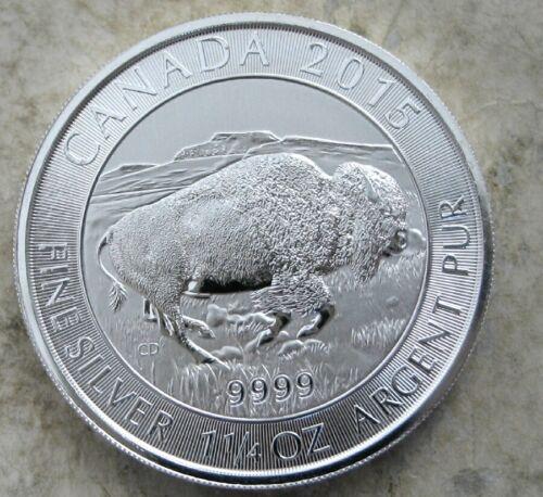 2015 CANADA $8 SILVER BISON 1.25 OZ .9999  SILVER COIN   GEM BU