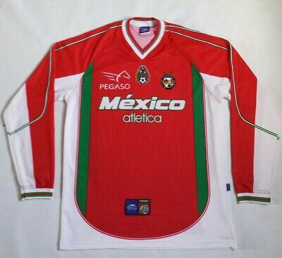 c99738bdb Vintage Rare Mexico National Soccer Team Atletica Long Sleeve Jersey Size M