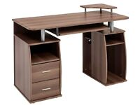 Computer Desk with Shelves Cupboard & Drawers Home