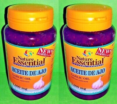 Aceite ajo 1000 mg 2x60 perlas Nature Essential Antibiotico natural Corazon