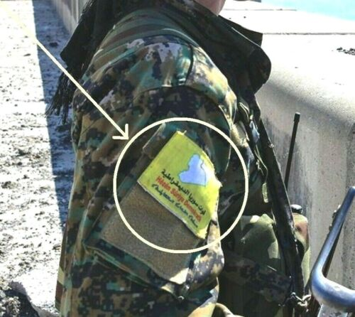 ANTI-ISIL Syrian Democratic Forces HÊZÊN SÛRIYA DEMOKRATÎK Flag SDF velkrō Flag