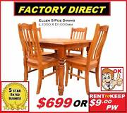 New Dining suite 5 piece chunky solid timber $699. Rent $7.50PW Ipswich Region Preview
