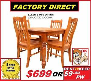 Brand New Dining suite 5 piece chunky solid timber $699 Or Rent Ipswich Region Preview