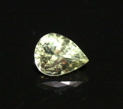 1ct Chrysoberyl - Beautiful Clean Tanzanian Precision Cut Pear - Green Yellow