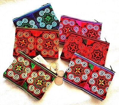 New Wholesale 60 Pcs Thai Hmong Handmade Embroidered Purse Bag Wallet Coin Bags  (Wholesale Handbag Purse Wallet)