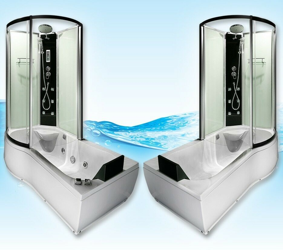 AcquaVapore DTP8050-WS Whirlpool, Badewanne, Dusche, Duschkabine 170x98