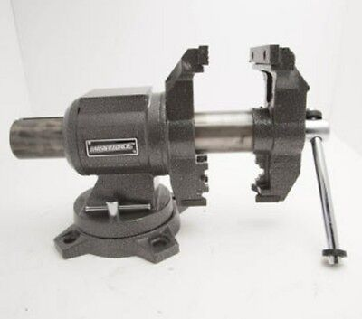 3960lb 5 Workshop Rotating Head Bench Vise Swivel Anvil Steel Jaws Shop Clamp